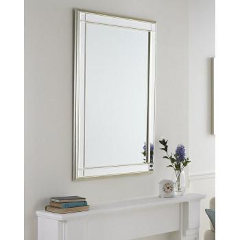Зеркало настенное в прямоугольной раме Дорсет Серебро