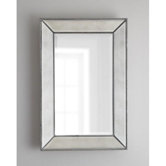 """Зеркало в серебристой зеркальной раме """"Мэдиcон"""" Серебро в интернет-магазине ROSESTAR фото"""