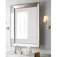 Зеркало в серебристой зеркальной раме Мэдиcон Серебро