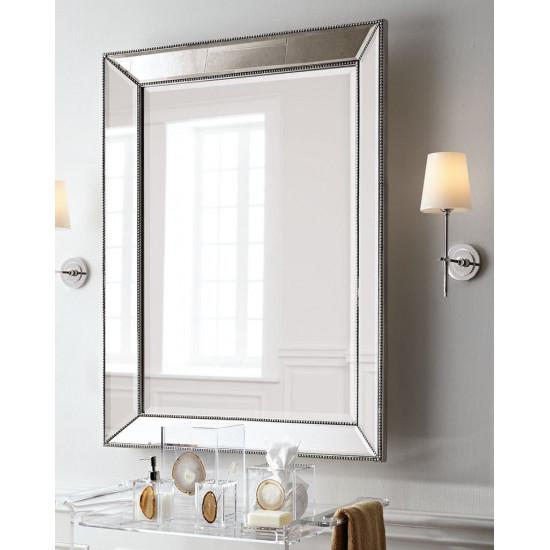 Зеркало в серебристой зеркальной раме Мэдиcон Серебро в интернет-магазине ROSESTAR фото