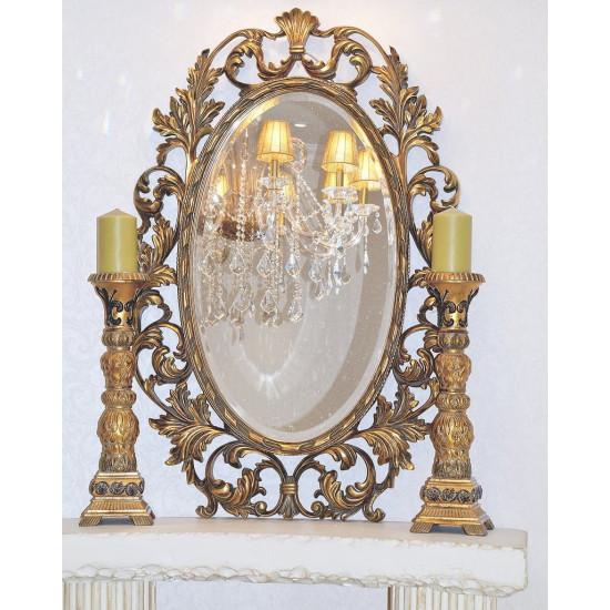 Зеркало овальное в золотой раме Гойя Золото в интернет-магазине ROSESTAR фото