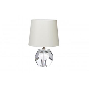 Хрустальная настольная лампа с кремовым абажуром X31511CR