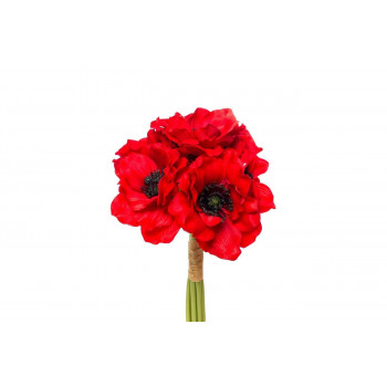 Букет красных маков 30см 9F27090SN-1545