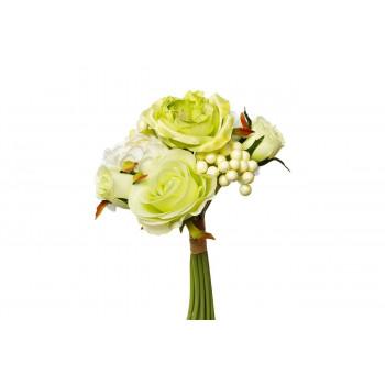 Букет розы-пионы бело-зеленый 30см 9F28018-4673