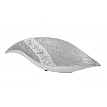 Керамическое серебряное блюдо 35*16,5*8 18H7921-1