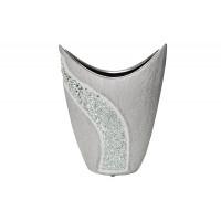 Керамическая серебряная ваза 19,5*8,5*25 18H6938S-1