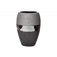 Керамическая чёрно-серебристая ваза 20*13.5*28 18H2373L-2