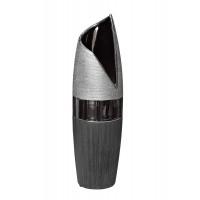 Керамическая чёрно-серебристая ваза 11.5*11.3*40 18H7717M-2