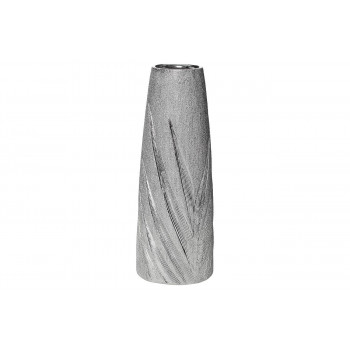 Керамическая серебристая ваза 14.8*14.8*39.5 18H7732M-3