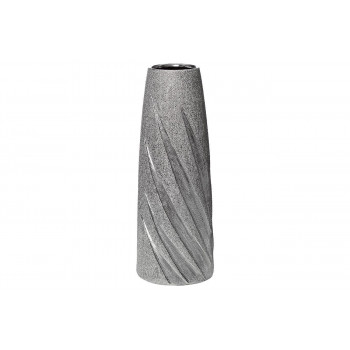 Керамическая серебристая ваза 11*11*30 18H7732S-3