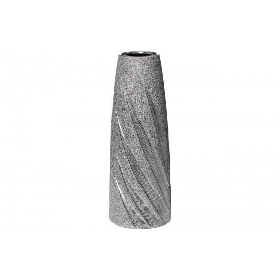 Керамическая серебристая ваза 11*11*30 18H7732S-3 в интернет-магазине ROSESTAR фото