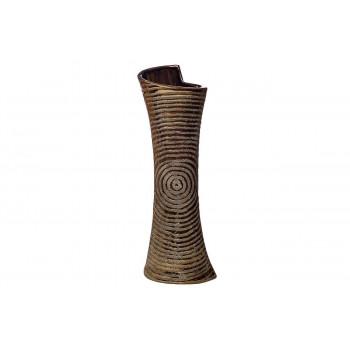 Керамическая золотая ваза 16*12*50 18H7854M-4