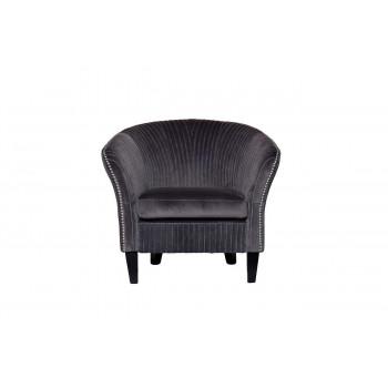 Низкое велюровое серое кресло на деревянных ножках 69*72*83см PJS30801-PJ636