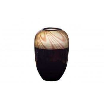Стеклянная ваза тёмный шоколад 19*27 KL1927LS