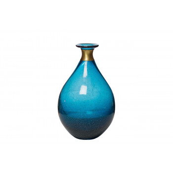 Стеклянная синяя ваза 16*25 KL1625-Q