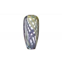 Стеклянная фиолетовая ваза H30xD1HJ6037-30-O80
