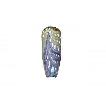 Стеклянная фиолетовая ваза H35xD14 HJ6037-36-O80