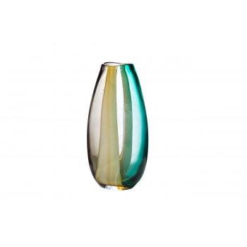 Стеклянная цветная ваза H30xD16.5x10.5 HJ4128-31-N95