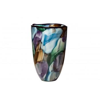 Стеклянная цветная ваза H30xD19 HJ4143-28-K85