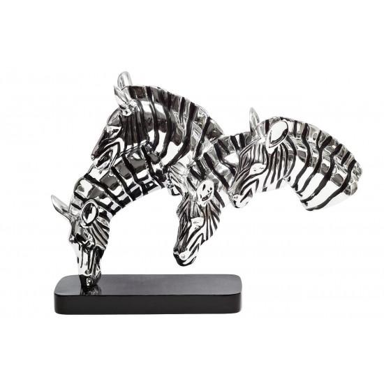 Статуэтка Зебра серебряная 33х9,5х27 D6236 в интернет-магазине ROSESTAR фото