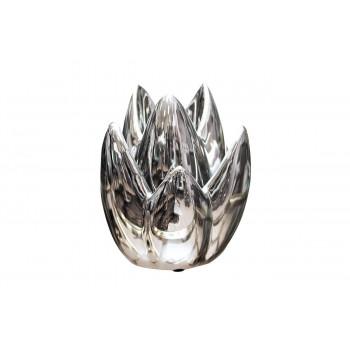 Керамический серебряный подсвечник 16,5*16,5*24 10K8152A