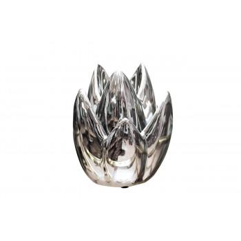 Керамический серебряный подсвечник 13*13*19.5 10K8152B
