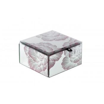 Стеклянная шкатулка Цветы 121*121*68 KFJ311