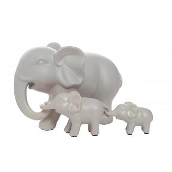 Статуэтка Набор слонов цвет бежевый 10K9178