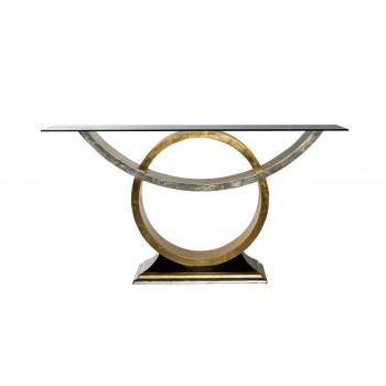 Консоль деревянная со стеклом 157*46*85см ART-4472-D