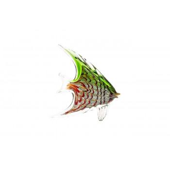 Статуэтка Рыба зелено-красная 19х5х21 см F6902