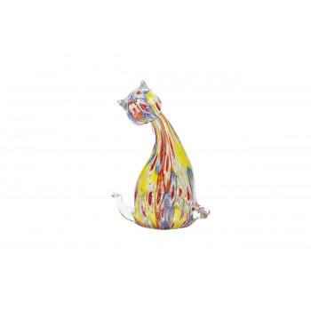 Статуэтка Кошка цветная 10,5х6,5х16,5 см F2719