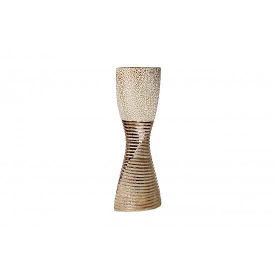 Керамическая золотая ваза 16х10,3х42,5 18H7582M-8 в интернет-магазине ROSESTAR фото