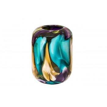 Стеклянная цветная ваза H26D18,5 HJ1510-26-M43