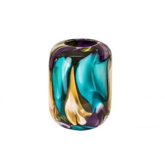 Стеклянная цветная ваза H26D18,5 HJ1510-26-M43 в интернет-магазине ROSESTAR фото