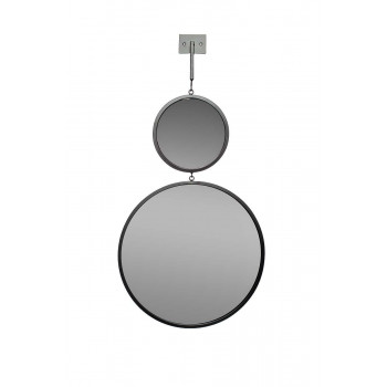 Двойное зеркало с планкой, диаметр 20/40 см 19-OA-6003-1BL