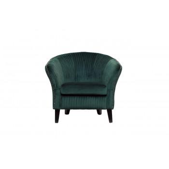 Изумрудное низкое велюровое кресло на деревянных ножках 69*72*83см PJS30801-PJ622