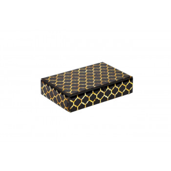 Стеклянная шкатулка золотистая 227х154х52 KFJ312