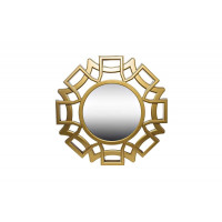 Декоративное круглое зеркало в золотой раме d45,7х4,2 M840B