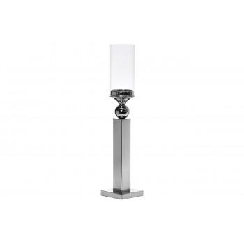 Стеклянный подсвечник на металлической ножке 12х12х61 2K230186