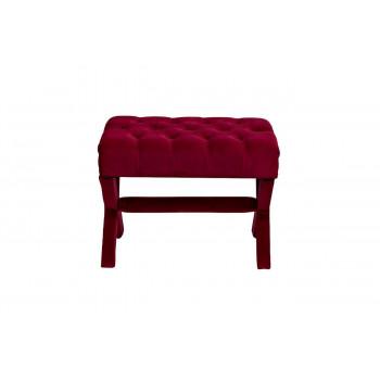 Красная банкетка капитоне на деревянных ножках велюр 65*50*49см Neil 5825RE