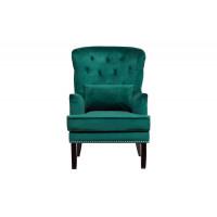 Зелёное кресло бархат с подушкой 77*92*105см 24YJ-7004-07342/1
