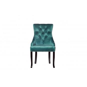 Велюровый стул на деревянных ножках изумрудный 63*56*99см 24YJ-236-07375