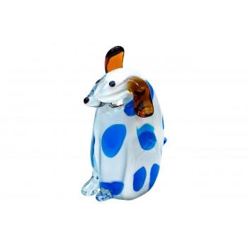 Статуэтка Собака бело-голубая 11х6,5х14,5 см F4097