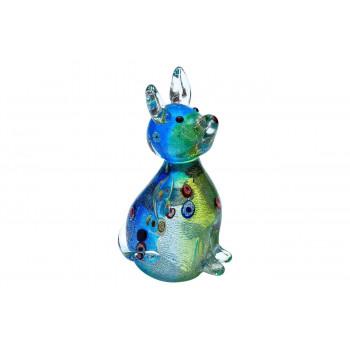 Статуэтка Собака салатово-голубая 8х6х13,5 см в подарочной упаковке F5254