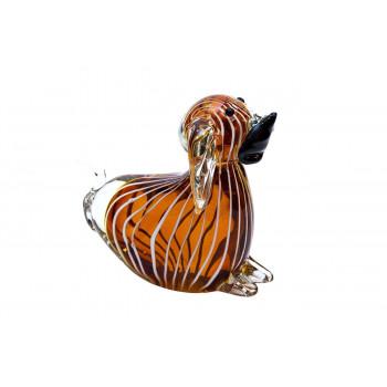 Статуэтка Собака янтарная 13х7х11,5 см F5020