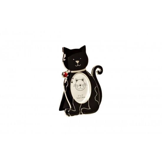 Чёрная фоторамка Кошка 11,5х1,5х15 см PF12095  в интернет-магазине ROSESTAR фото