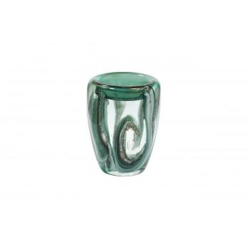 Стеклянная зеленая ваза H21xD15,5 HJ4143-20-Q88