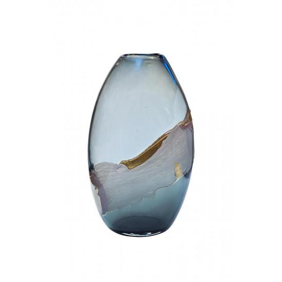 Стеклянная цветная ваза H41D24х16,5 HJ1459-41-Q87  в интернет-магазине ROSESTAR фото