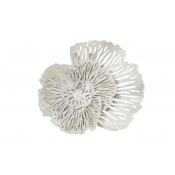 Настенный декор Цветок белый 36,8*40,6*9,53см 37SM-8321-J