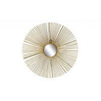 Зеркало солнце декоративное золотое 38,7*38,7*2,5 см, центральный диаметр 8,5 см 37SM-0533
